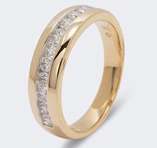 Diamond Collection  Ring G585 zur Wahl 0,50ct Brillanten aus Kanada